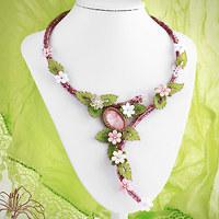 Šitý náhrdelník Čarovné jaro