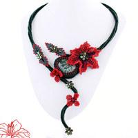 Šitý náhrdelník Serissa
